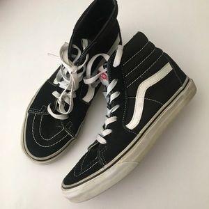 Vans black & white unisex hi-tops